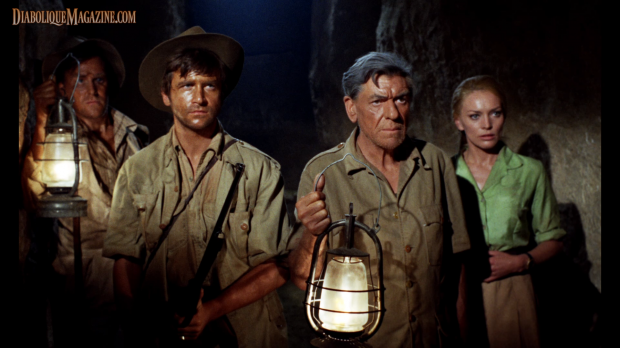André Morell, John Phillips, David Buck, and Maggie Kimberly in The Mummy's Shroud (1967) [Click to enlarge]