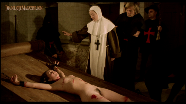 Susan Hemingway, Ana Zanatti, and William Berger in Love Letters of a Portuguese Nun (1977) [Click to enlarge]
