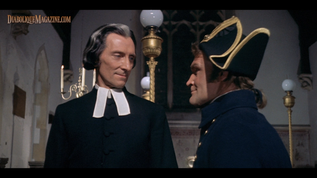 Peter Cushing and Patrick Allen in Captain Clegg (1962) [Click to enlarge]