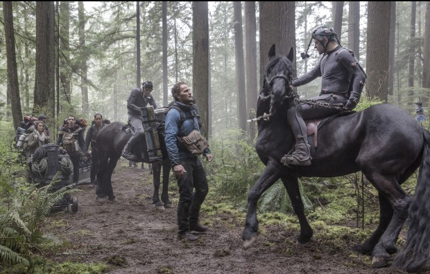 Caesar, portrayed by Andy Serkis (in performance capture suit), in Matt Reeves' Dawn of the Planet of the Apes (2014) [Click to Enlarge]