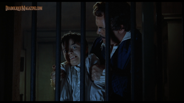 Clifford Evans and Justin Walters in Hammer's The Curse of the Werewolf (1961) [Click to enlarge]