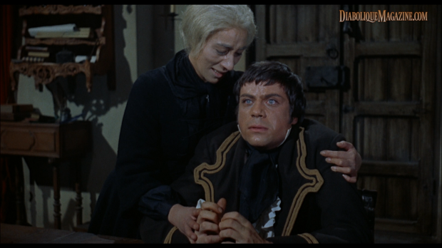 Oliver Reed and Hira Talfrey in Hammer's The Curse of the Werewolf (1961) [Click to enlarge]
