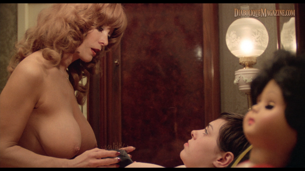 Dyanne Thorne and Lina Romay in Ilsa: The Mad Butcher (1977) [Click to enlarge]