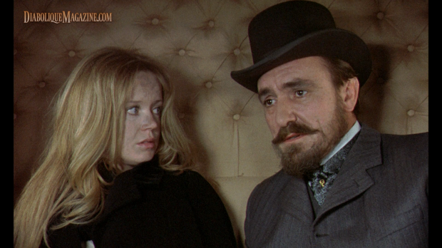 Angharad Rees and Eric Porter in Hammer's Hands of the Ripper (1971) [Click to enlarge]