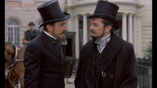 Derek Godfrey and Eric Porter in Hammer's Hands of the Ripper (1971) [Click to enlarge]