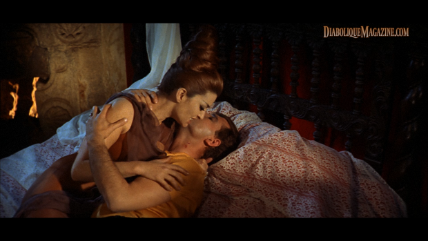 Manuel Manzaneque and Aurora de Alba in La Marca del Hombre Lobo (1968) [Click to enlarge]