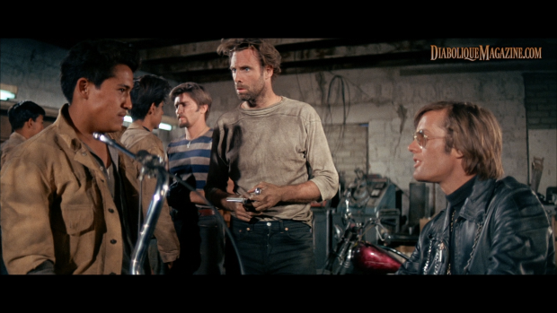 Peter Fonda and Bruce Dern in The Wild Angels (1966) [Click to enlarge]