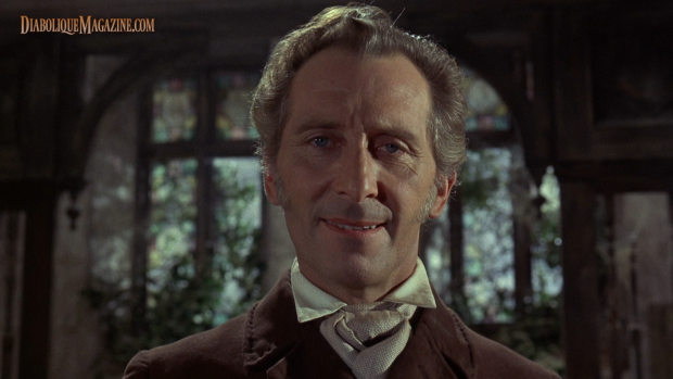 Peter Cushing in The Evil of Frankenstein (1964) [Click to enlarge]