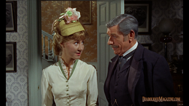 Diane Clare and André Morell in The Plague of the Zombies (1966) [click to enlarge]