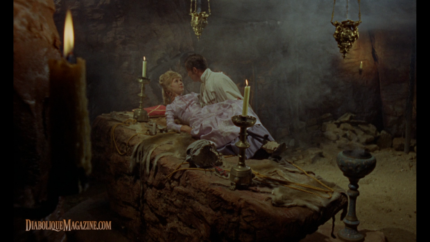 Diane Clare and John Carson in The Plague of the Zombies (1966) [click to enlarge]