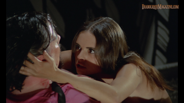 Soledad Miranda and Jess Franco in She Killed in Ecstasy (1971) [Click to enlarge]