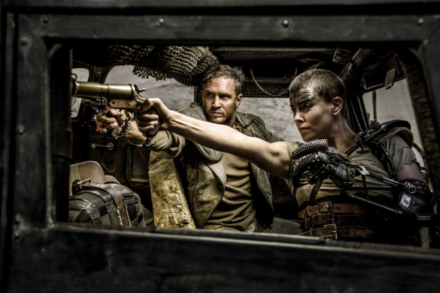 Tom Hardy and Charlize Theron in Mad Max: Fury Road [click to enlarge]
