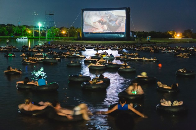 We Saw JAWS…from an Inner Tube on a Lake!