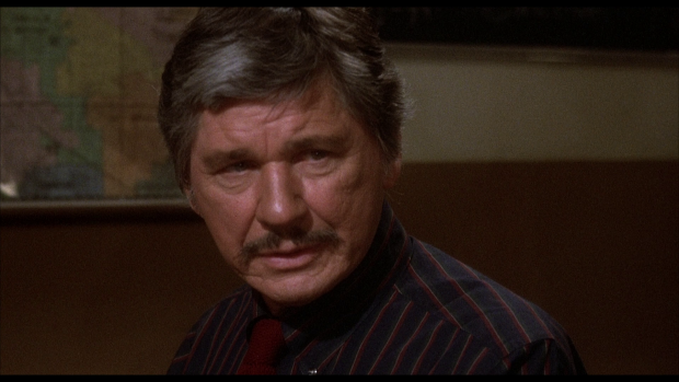 Charles Bronson in J Lee Thompson's 10 to Midnight (1983) [Click to Englarge]