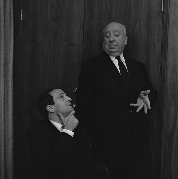 Alfred Hitchcock and François Truffaut [click to enlarge] photo by Philippe Halsman