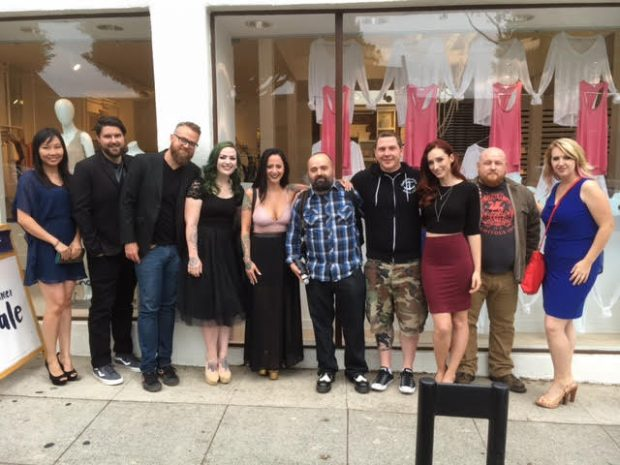 "The Filmmaker, Cast & Crew of the ""Etheria Film Night""  ""Jury Award"" & ""People Choices"" Award best short film ""The Stylist"" with Jay Kay in the middle"