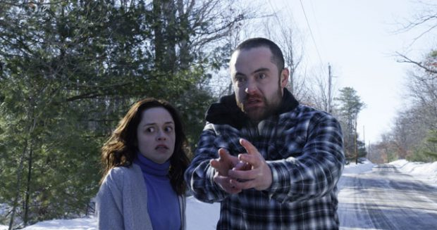 Lauren Ashley Carter and Graham Skipper in cold weather conditions The Mind's Eye (2016)