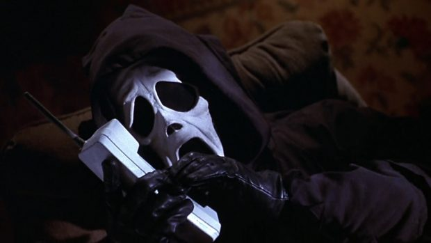 Image result for ghostface on phone