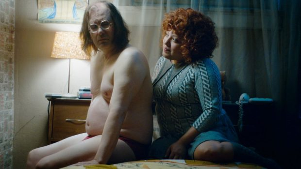 Sky Elobar and Elizabeth De Razzo in the Greasy Strangler