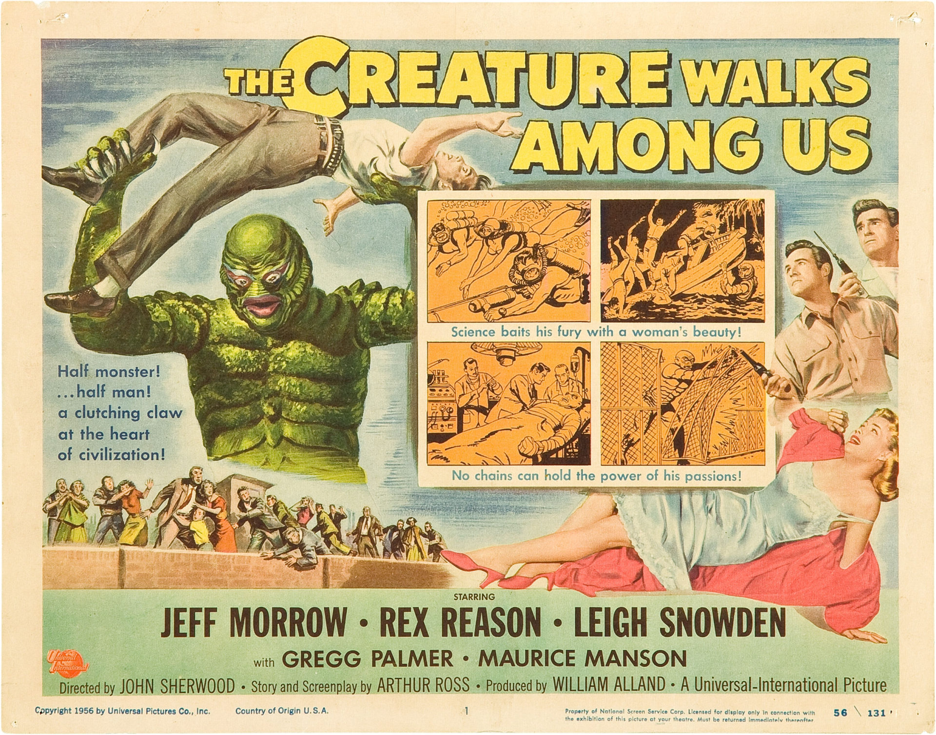 Gods & Monsters: Identity Loss in The Creature Walks Among Us (1956)